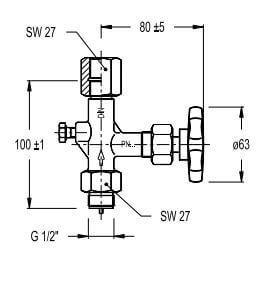Tekening manometer